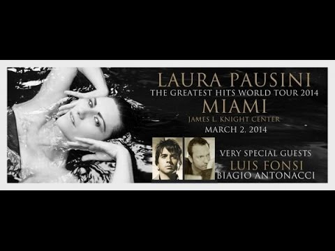 Laura Pausini - James L Knight Center, Miami, FL 03-02-2014 Part 1 HD