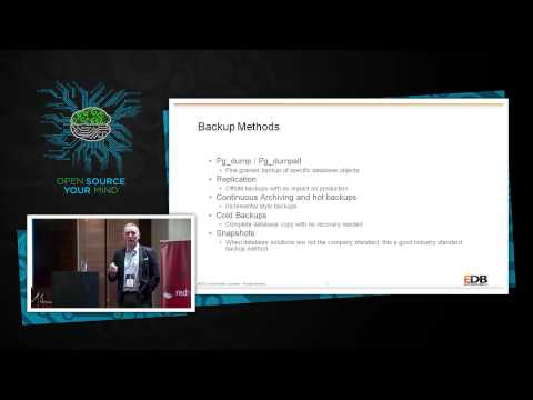 EDB's backup and recovery strategies Mark Jones - EnterpriseDB