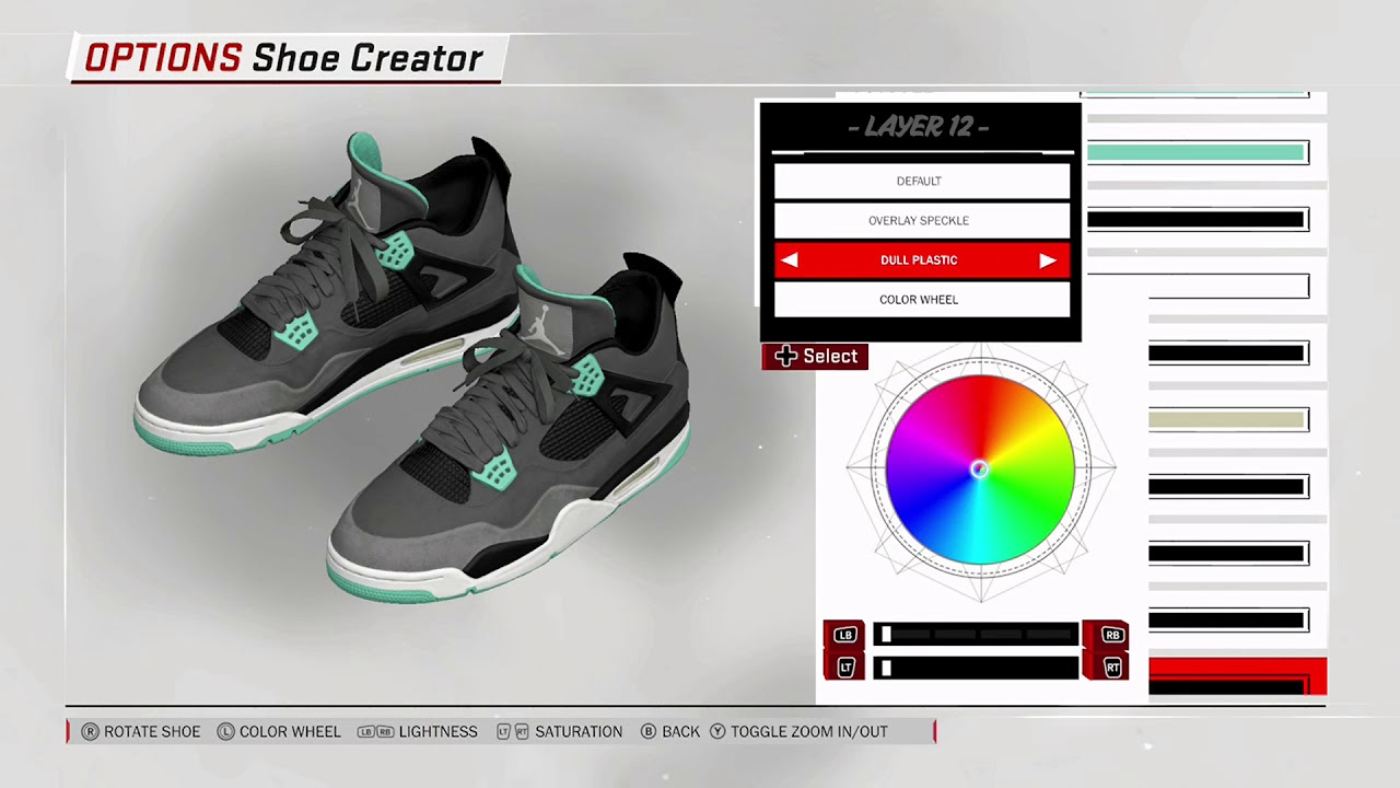 NBA 2K18 Shoe Creator Air Jordan 4
