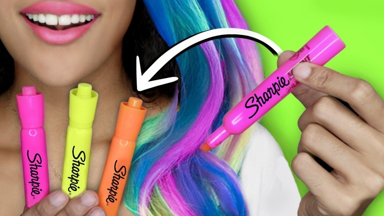 How To Make Diy Hair Dye With School Supplies Glow In The Dark You