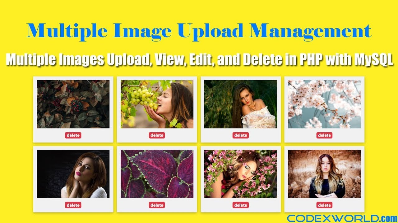 Multiple Image Upload with View, Edit and Delete in PHP - CodexWorld