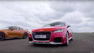 Drag Race! Audi TT RS Vs Nissan GTR | Top Gear