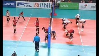 Best scene in bronze medal match - Korea vs Japan - Women volleyball Asiad 2018