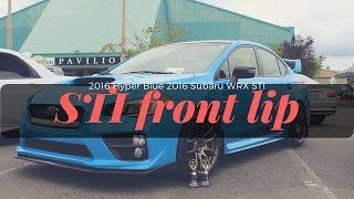 homepage tile video photo for Hyper Blue 2016 Subaru WRX STI eBay Front Lip   Bayson-R