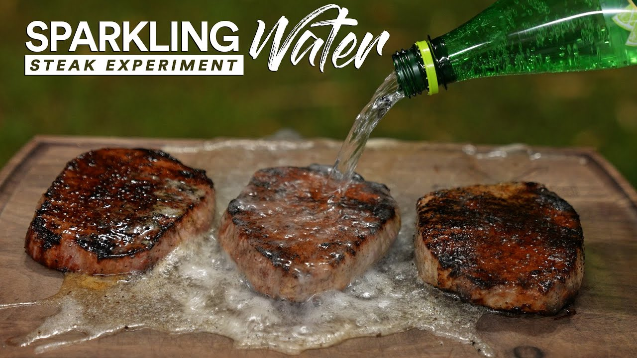 I tried SPARKLING Water on $1 Steak and this happened!