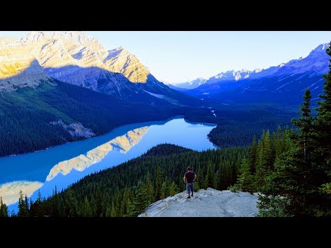 the-must-see-places-along-icefields-parkway,-alberta,-canada-4k
