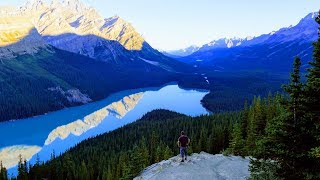 The must see places along Icefields Parkway, Alberta, Canada 4K
