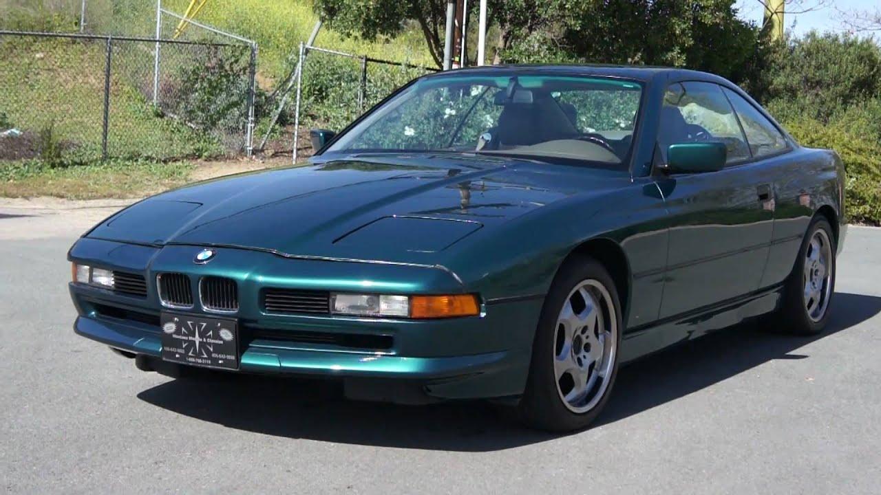1993 BMW 850Ci CLEAN Low Mile 82k V12 12 Cylinder S600  YouTube