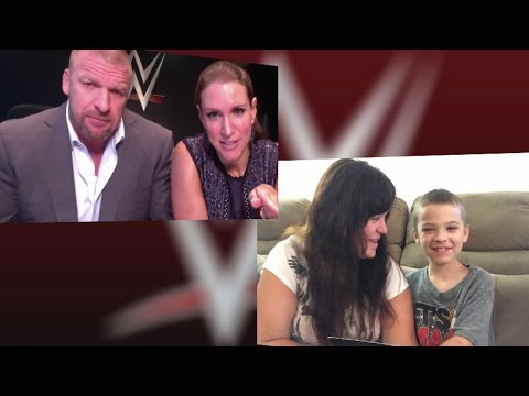 Triple H and Stephanie McMahon deliver a special message to young WWE fan Elijah thumbnail