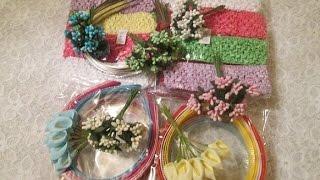 Цветы из ткани. Заказ фурнитуры для изделий своими руками. Сайт http://www.zakolka.net.ua/(Авторский канал