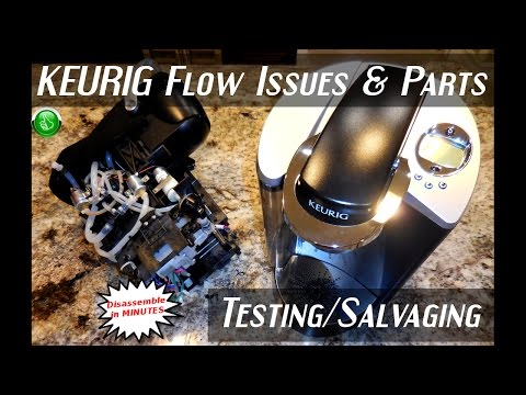 KEURIG Disassembly & Parts Testing(RESTRICTED Flow Issue)