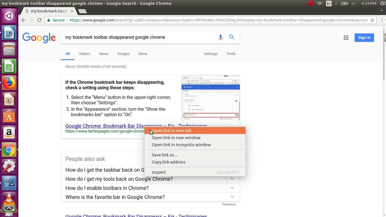 My bookmark toolbar disappeared google chrome