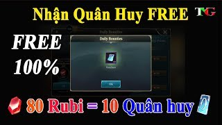 Liên quân mobile Hướng dẫn dùng RUBI ĐỔI QUÂN HUY Hướng dẫn nhận quân huy miễn phí trải nghiệm game