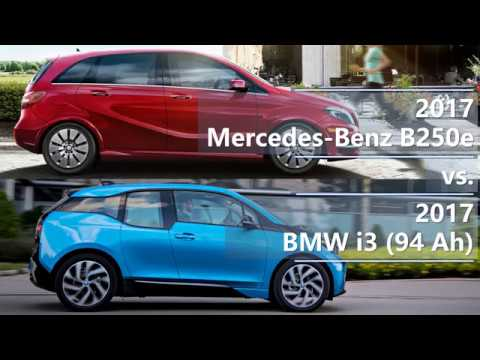 2017 Mercedes B250e vs. 2017 BMW i3 (94 Ah) technical comparison