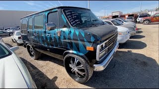 """PIMP MY RIDE VAN WITH 28"""" RIMS AT THE AUCTION!"""