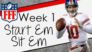 Week 1 Start'Em Sit'Em - Sleepers - 2015 Fantasy Football
