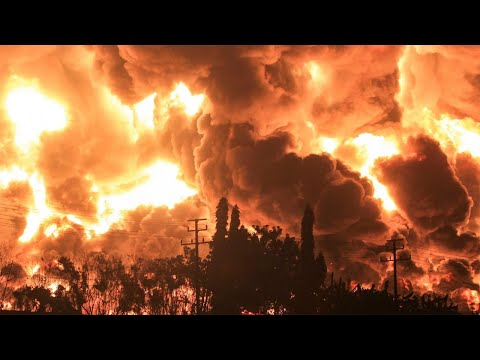 Massive fire at oil refinery forces evacuation of hundreds in Indonesia