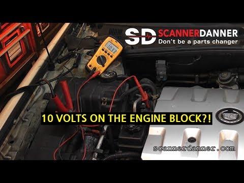Engine does not crank (bad block ground) - Cadillac