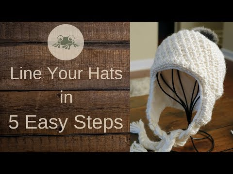 How To Line An Earflap Hat With Fleece