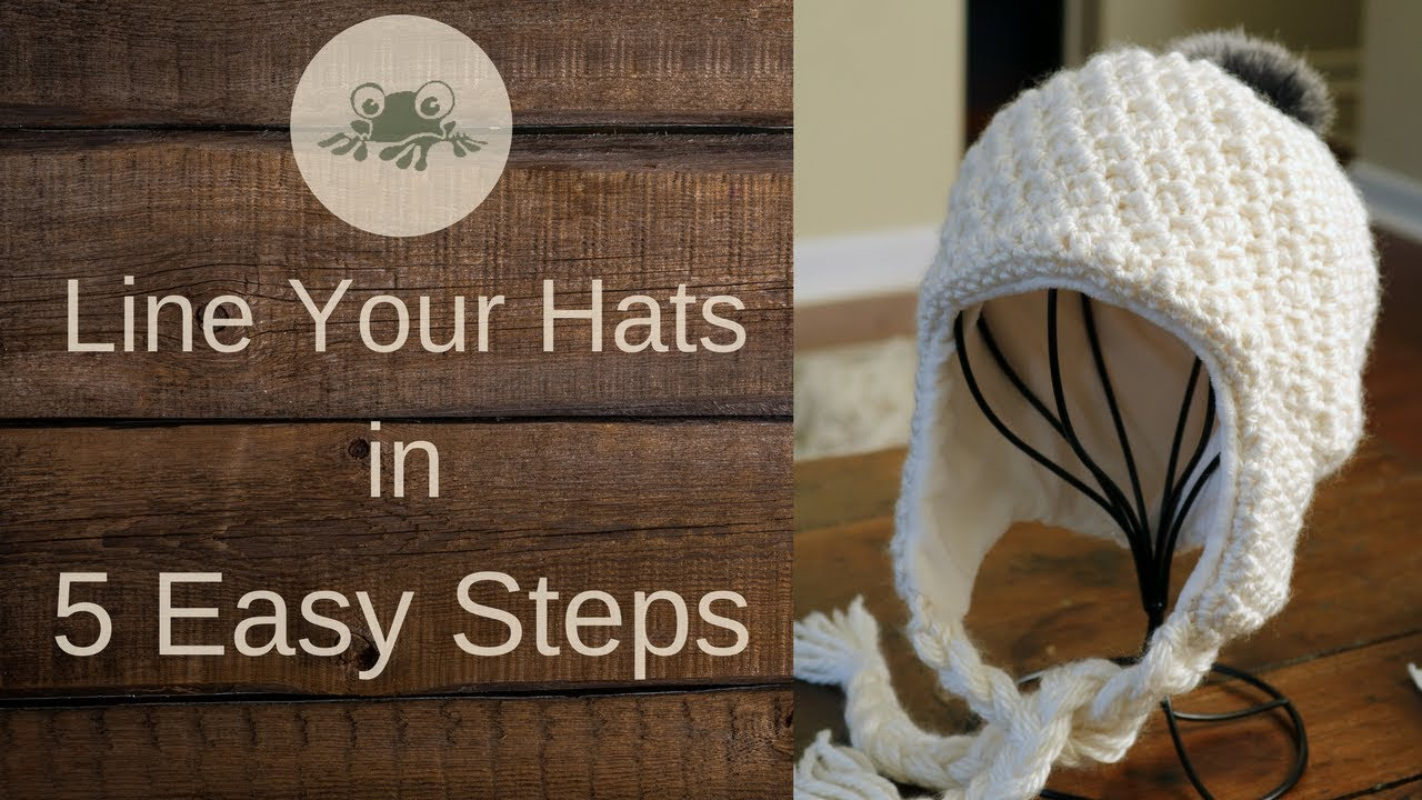 How to Line an Earflap Hat With Fleece - YouTube dc1931624a5