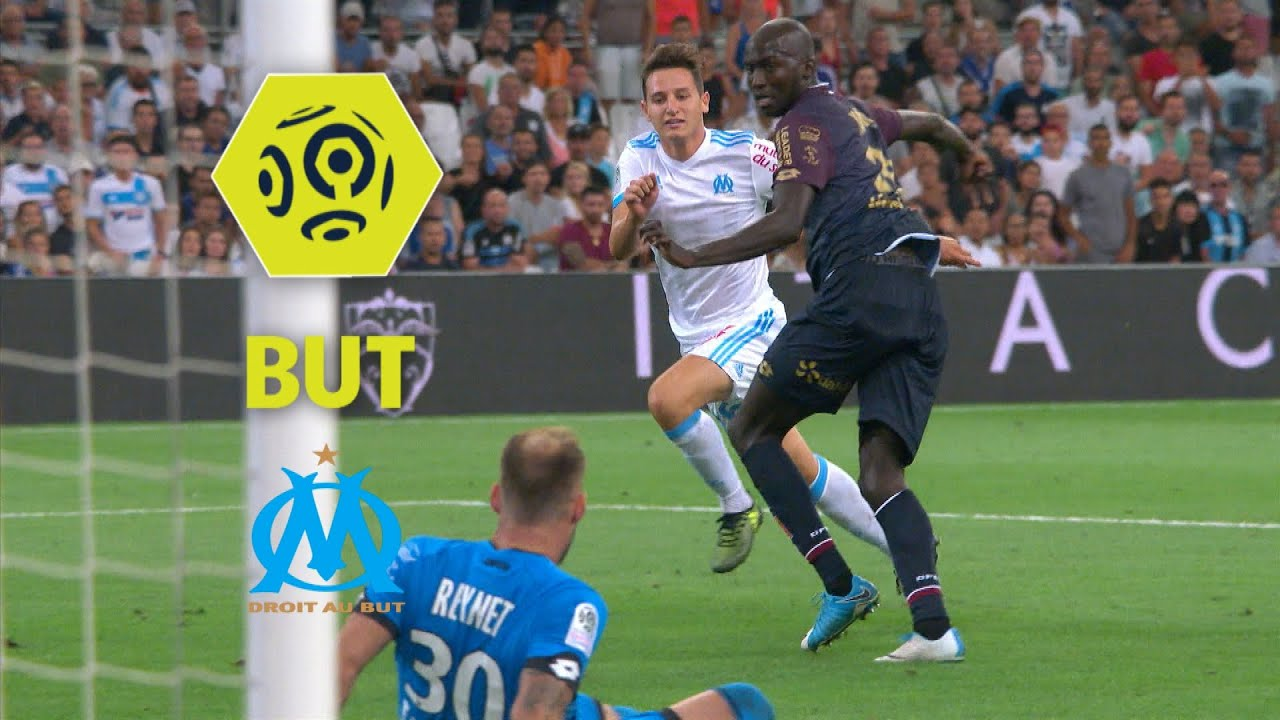 but florian thauvin 54 39 olympique de marseille dijon fco 3 0 2017 18 youtube. Black Bedroom Furniture Sets. Home Design Ideas