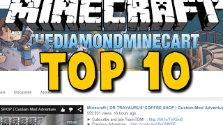 Top 10 Most Subscribed Minecraft Channels! - The Diamond Minecart and many more! - Brothers