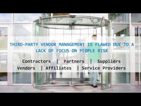 Webinar: Assessing and Managing the Risk of Vendors in Your Facility