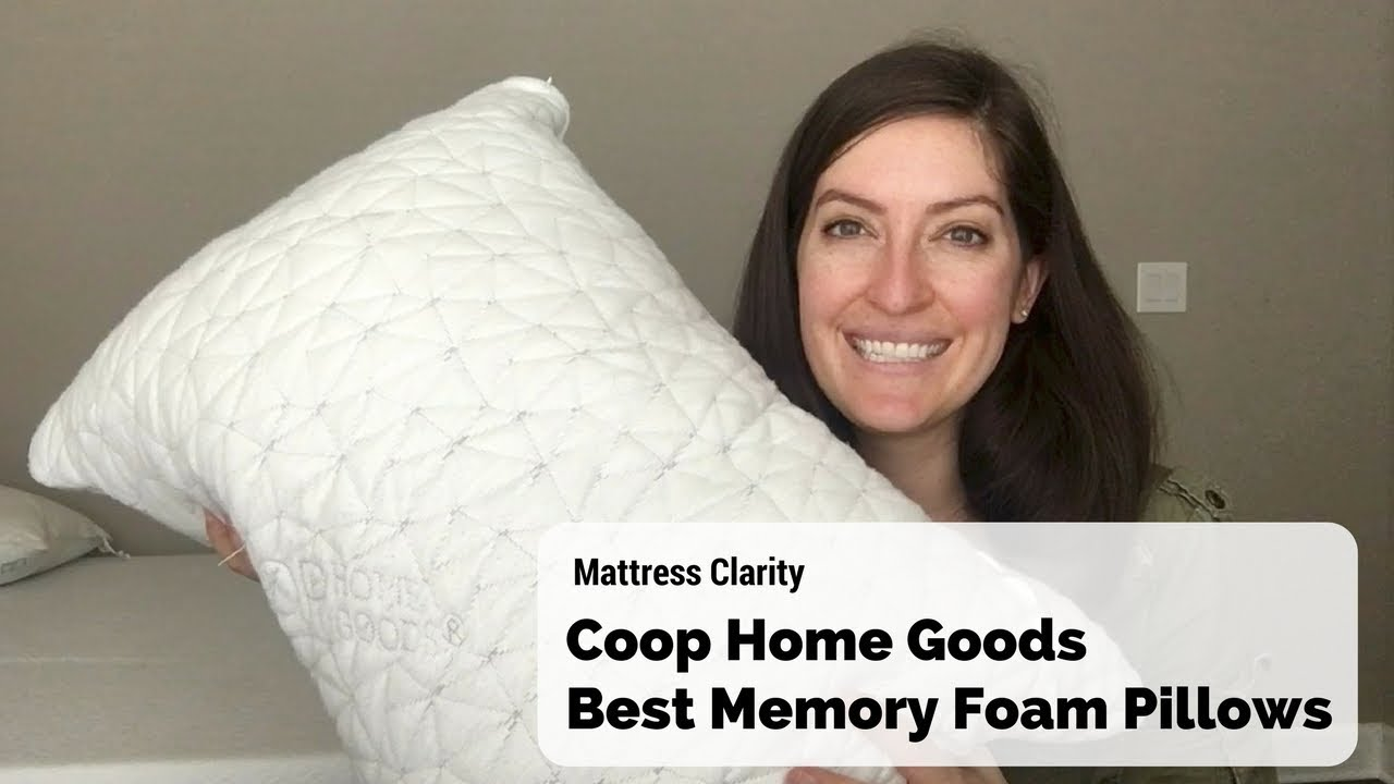 coop home goods best memory foam pillow for side sleepers