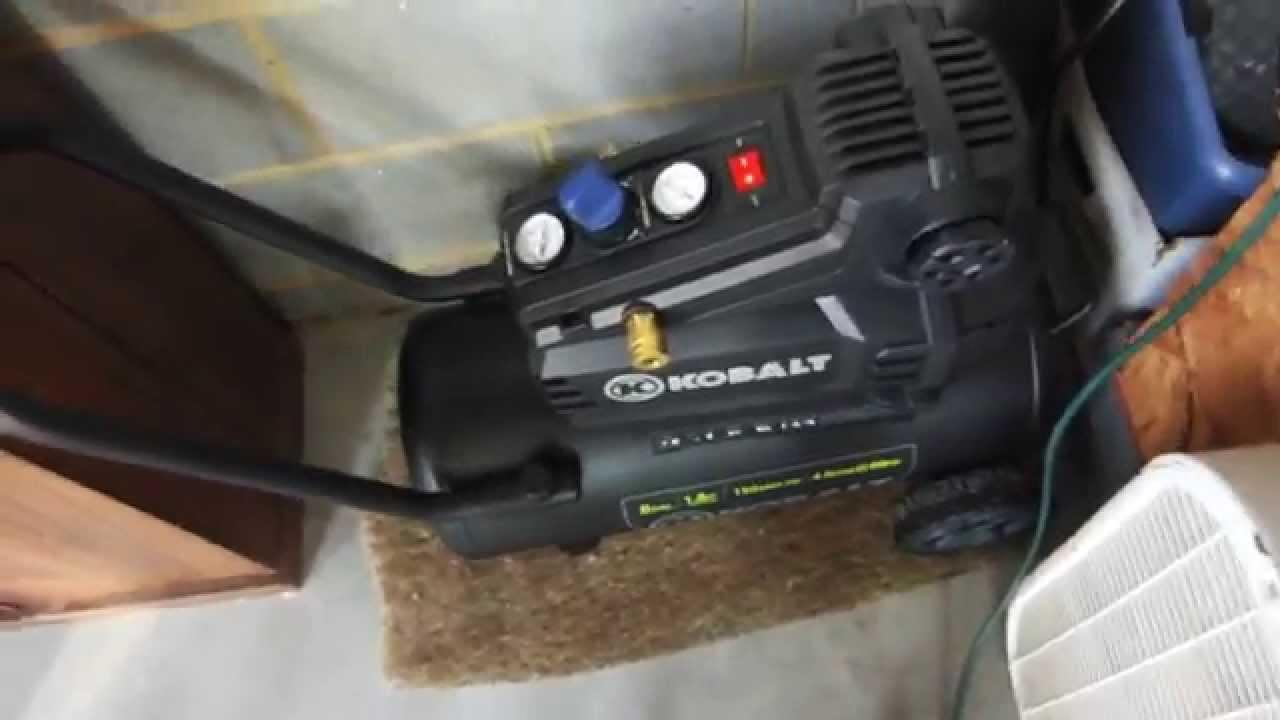 maxresdefault kobalt 8 gallon air compressor review youtube