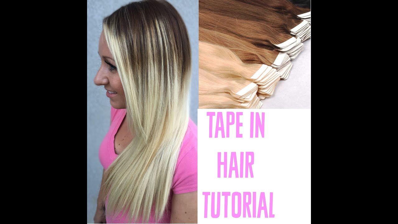 Tape In Extensions How To Apply Tutorial Youtube