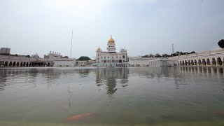 Time lapse of Bangla sahib gurudwara's view from dome's lake
