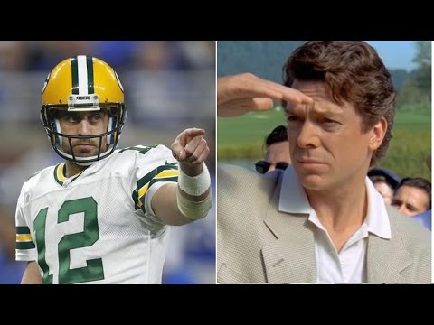 "Aaron Rodgers Gets into TWITTER WAR with ""Shooter McGavin"" from Happy Gilmore After QUITTING Golf"