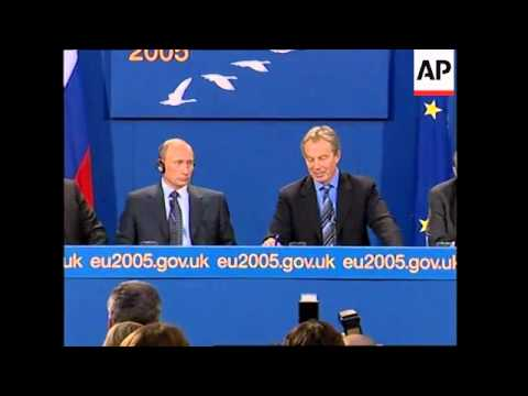 WRAP Blair, Barroso and Putin joint presser at summit