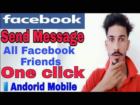 How to message all your friends on facebook