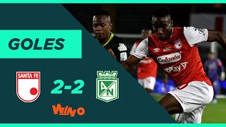 Santa Fe vs. Nacional (2-2) Liga BetPlay Dimayor 2020-1 Fecha 8
