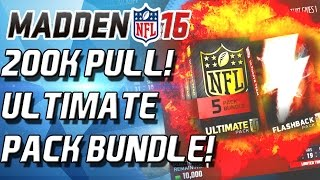 Madden 16 Ultimate Team - ULTIMATE PACK BUNDLE! THE LEGEND HUNT IS ON! - MUT 16