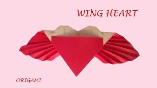 Angel Wing Heart - Fun DIY easy origami love | Thanks Giving
