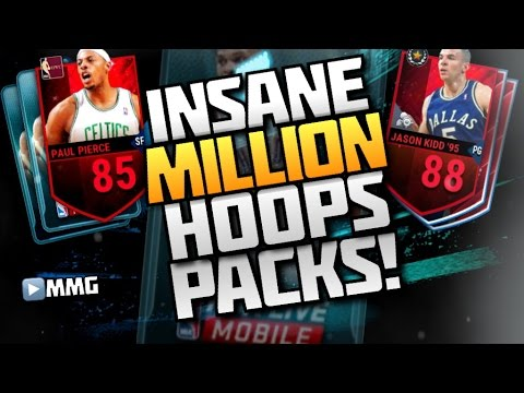 One Million Hoops Packs Opening! NBA Live Mobile