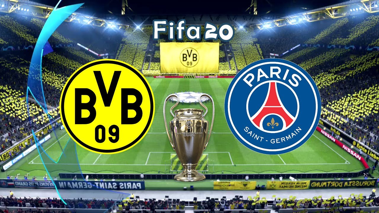 Fifa 20 | Dortmund vs PSG | Round Of 16 UEFA Champions League - Full Match + Gameplay Leg 1 19/20