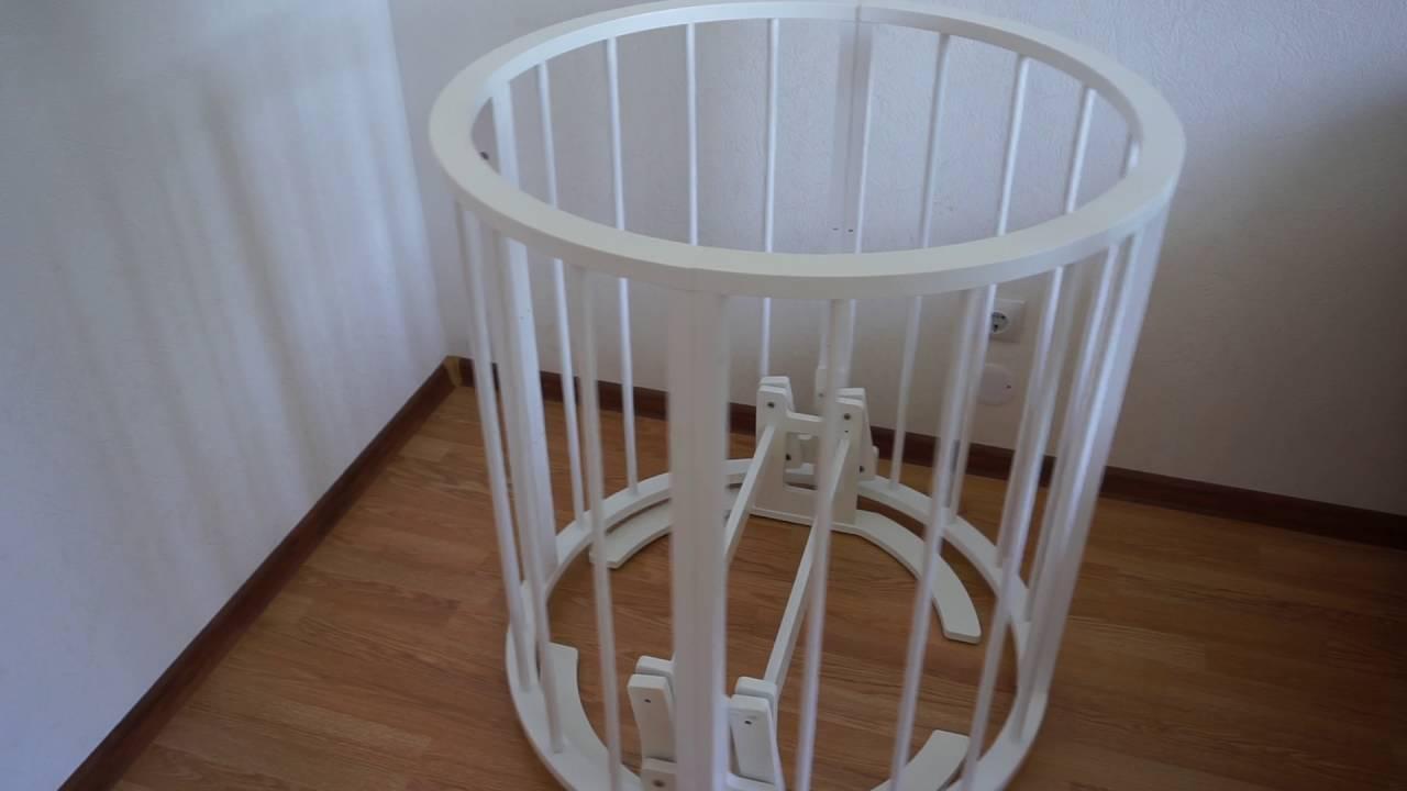 Инструкция по сборке детской кроватки с продольным маятником .