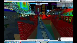 ROBLOX: NEW Hydraulic California Screamin' recreation at DCA at Theme Park Tycoon 2 (2018) Night