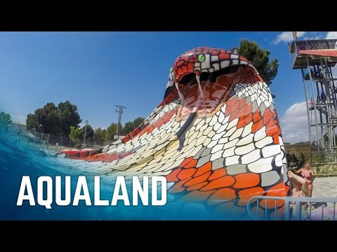 Water Slides at Aqualand El Arenal, Mallorca