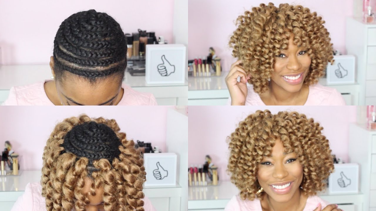 Crochet Hair How To : Watch Me Crochet Braid My HairChimereNicole - YouTube