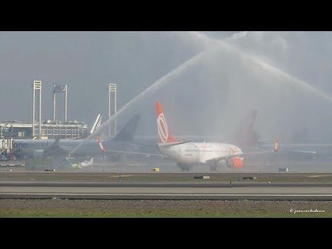 GOL Linhas Aéreas Boeing 737-8HX (PR-GUR) Inaugural Flight to Santiago de Chile SCL/SCEL