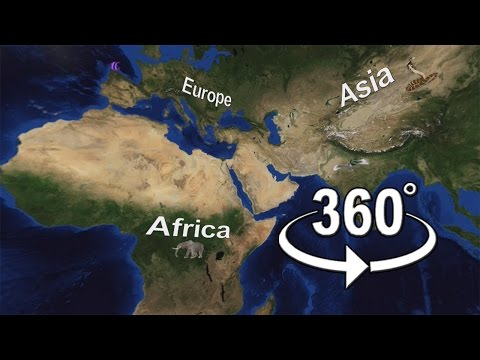 World Physical Map 360 degree video l first video in worldwide l it can rotate