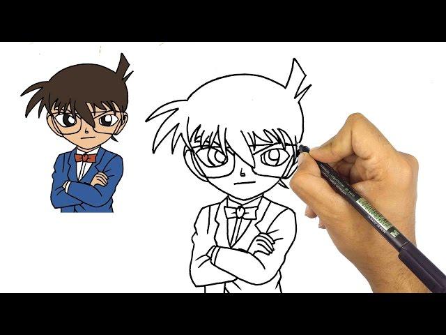 تعلم رسم الانمي كيف ترسم المحقق كونان تعليم الرسم الانمي للمبتدئين الفن والرسم Amino