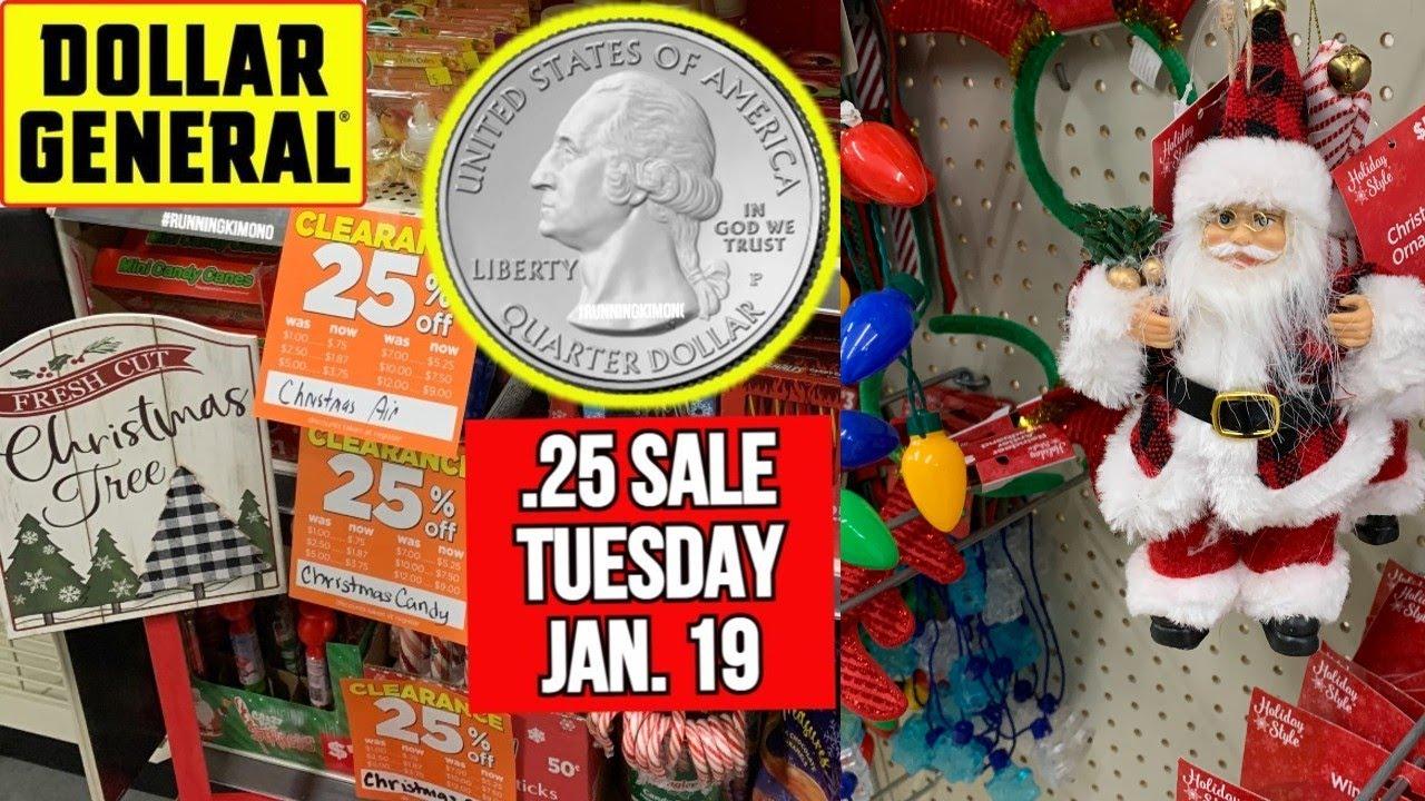 .25 Dollar General Christmas Items January 2021 Dollar General 25 Christmas Sale Tuesday Jan 19 Youtube