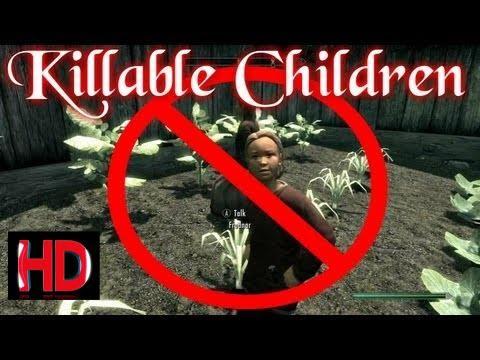 Skyrim - Slaughter The Kids 'Killable Children Mod'