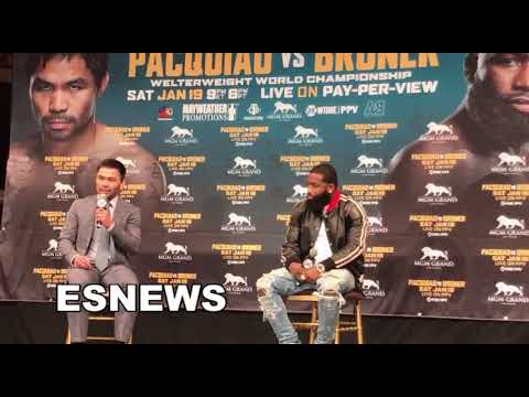 Manny Pacquiao: First Broner Then Floyd Mayweather Rematch EsNews Boxing