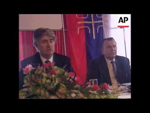 Bosnia - Karadzic On Exodus Of Serbs From Sarajevo